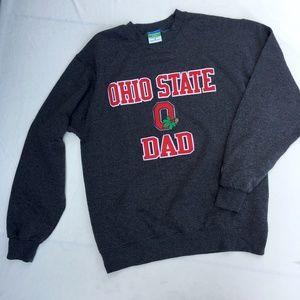 OSU Ohio State Dad Gray Crewneck Sweatshirt
